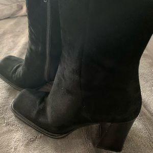 Suede blk Via Spiga boots made in Italy Gorgeous